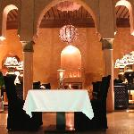 Intimate dining around the centrepiece plungepool