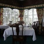 Breakfast served in charming room with a great view