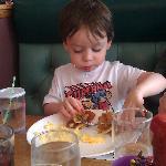 Baby Boy enjoying Breakfast!