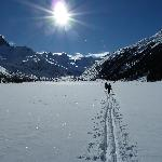 Route to Foot of Roseg Glacier - no loipe here!