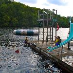 Dock Slide Slide & Water Trampoline