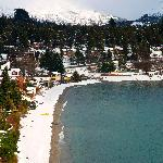 Vista de la Playa Bonita con nieve