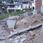 Baustelle: Weg vom Pool zu den Bungalows