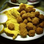Fried catfish and okra