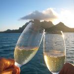 toasting Mt. Otemanu
