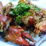Crab with black pepper and garlic