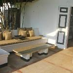 One of many lounging area