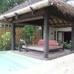 beach-front villa