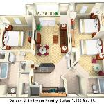 Point 2-Bedroom Deluxe Family Suite, with 2 King-size beds