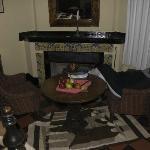 habitacion con chimenea
