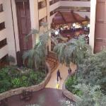 View from the elevator to breakfast area.