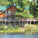 Sunny Rock Bed  & Breakfast www.sunnyrock.on.ca View from the Drag River.