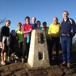 Trail runners at Rawhead
