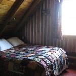 Peaceful sleep in Aunt Phoebe's log cabin