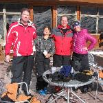 Lady mountain guides took good care of the tourists,