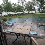 Rainy morning at the poolhouse suite