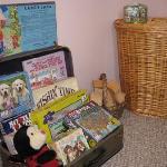 Loft antique suitcase of games & puzzles