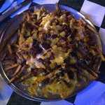 Chili Cheese Fries with Green Chilis and Bacon