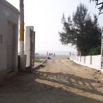 View of the sea beach from resort's gate