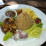 Belachan rice, tasty with lovely presentation