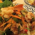 This was the scrummy prawn and lemongrass salad I ate - cracking!