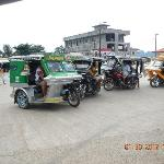 tricycles at 8 pesos per person