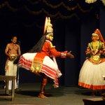 una scena del kathakali