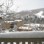 View of the Ski run from the living room