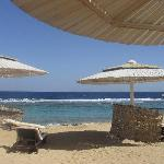 The hotel's beach on the way to the Red Sea