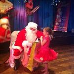 Father Christmas came to Cockerham Sands