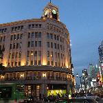Famous Wako Building in Ginza not far from the Imperial Hotel