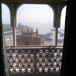 view of Gateway to India from our room
