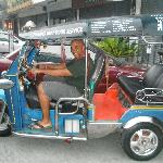 Me on the Tuk Tuk headed to the airport