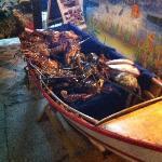 la scelta del pesce, esclusivamente fresco e vivo