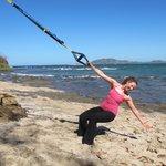 Nick Holt Fitness early am beach TRX workout