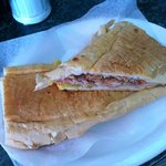 Cuban sandwich at Denny's Latin Cafe, Key Largo