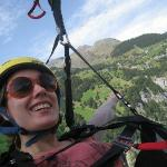 Flying down the valley in Lauterbrunnen!
