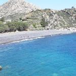 den første stranda du kommer til, bildet tatt fra haugen i mellom strendene