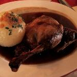 duck with potato dumpling