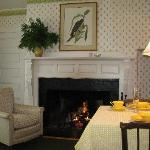 Dine by the fire in Room #1