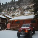 here is a pic looking back at the lodge!