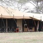 the main tent with dining and lounge