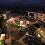 Nighttime Windemere private courtyard Melbourne Beach FL