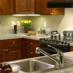 Fully equipped kitchens come standard in all apartments