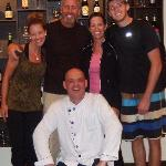 Our family with Gidi at the Carnivore Restaurant.