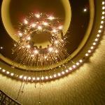 beautiful lighting in the hotel