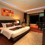 Deluxe room of 48 m2 with large Jacuzzi on the balcony