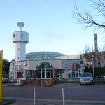 Blick auf die OASE im Bremer Weserpark