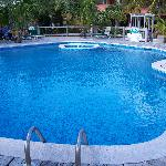 Freshwater pool with deck & resturant