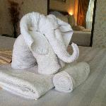 Nice touch towel arrangement on arrival Room 201